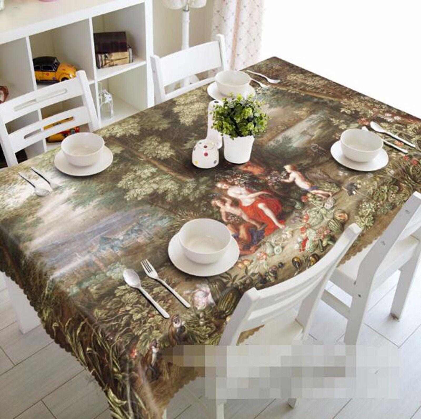 3D personnes 48 Nappe Table Cover Cloth fête d'anniversaire AJ papier peint Royaume-Uni Citron