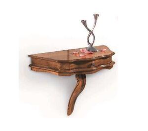 Antica mensola d'angolo in legno di faggio dorata a foglia