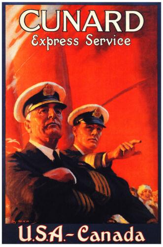 Canada Vintage Decoration /& Design Poster.Cunard Captains.Home Decor 882i