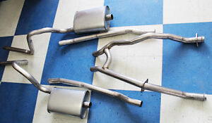 New-1965-1970-Mustang-2-034-Dual-Exhaust-Kit-HIPO-H-pipe-289-302-V8-Aluminized