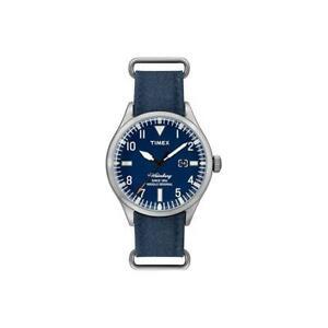 Orologio-Uomo-TIMEX-The-WATERBURY-TW2U00300LG-Pelle-Jeans-Blu