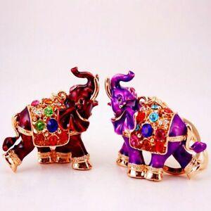 Colored-Ornaments-Crystal-Keyring-Keychains-Bag-Pendant-3D-Auspicious-Elephant