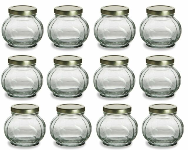 Nakpunar 12 Pcs 8 Oz Round Glass Jars For Jam Honey Wedding Favors