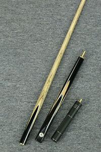 034-Grand-034-Paragon-Series-3-4-Ash-Shaft-Ebony-Handmade-Snooker-Cue-mini-butt-1059
