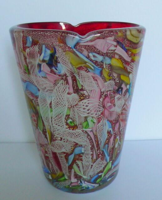 Mid Century  AVeM Murano Art Glass TUTTI FRUTTI  Vase