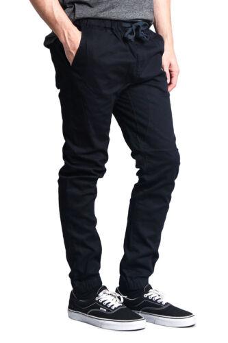 JG876-JJ1F Victorious Men/'s Elastic Waist Trousers Twill Skinny Joggers Pants