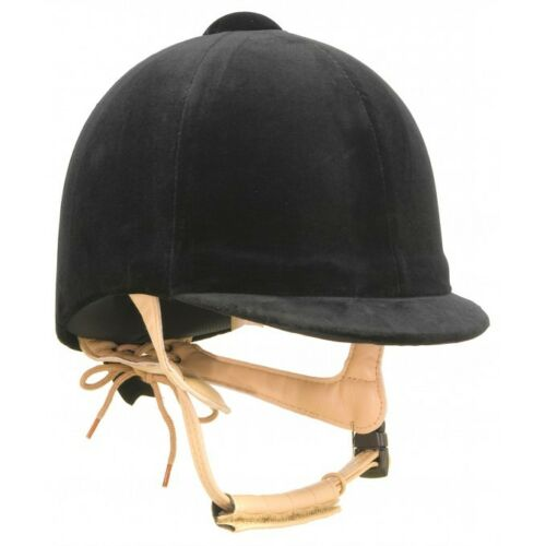 Champion Classic Riding Hat In Navy and Black With Beige Harness