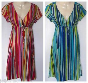 New-ladies-Boden-crinkle-cotton-striped-summer-dress-size-6-20-bnwot