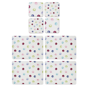 Cooksmart-Spotty-Dotty-Placemats-and-Coasters-Cute-Colourful-Spots-Table-Mats