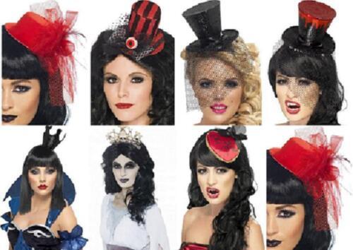 Halloween Black Red Glitter Queen Zombie Witch Vampire Crown Skull Hat Bite Me