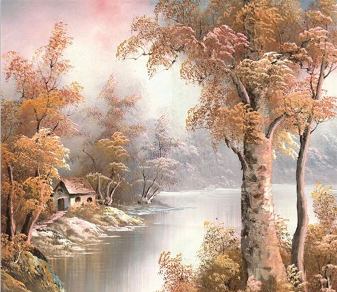 3D Painting River image 0637 Wall Paper Wall Print Decal Wall Deco AJ WALLPAPER