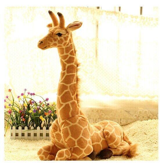 Giant Big Giraffe Soft Toys Plush Simulaiton Sitting Giraffe Doll Xmas Gift 85cm
