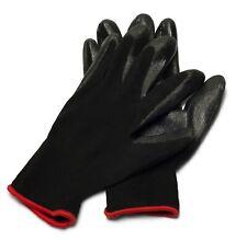 1 Dozen Nitrile Dipped Grey Nylon Industrial Work Gloves Size Large