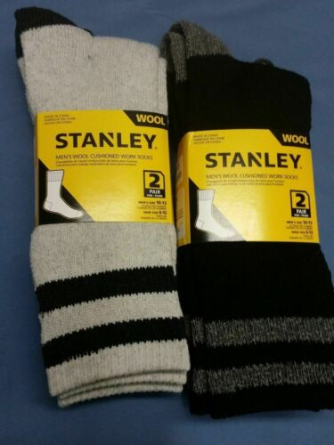 8 Pairs of Stanley Men/'s Wool Cushioned Works Sports  heavy Duty Socks size