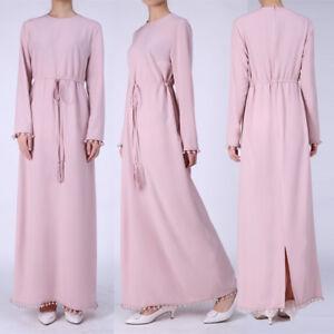 2ac07ddb22ad Women Long Sleeve Party Muslim Maxi Dress Kaftan Abaya Hijab Islamic ...