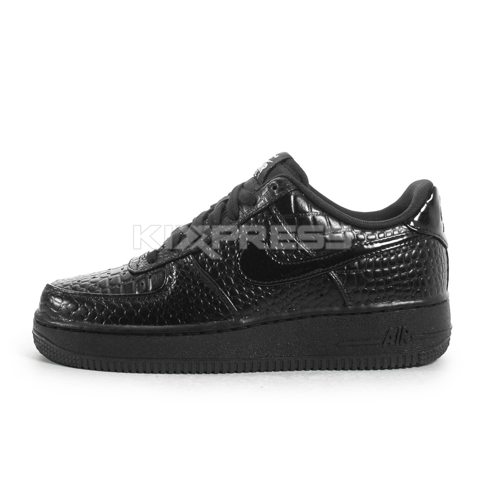 Nike WMNS Air Force 1 '07 PRM [616725-002] NSW Casual Crocs Black/Silver