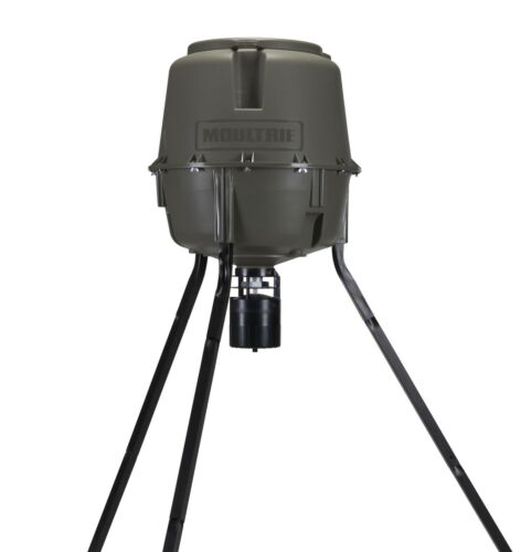MOULTRIE 30 Gal Adjustable Height Quick-Lock Elite Tripod Deer w//Digital Timer