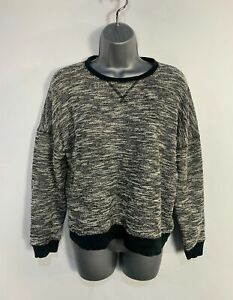 WOMENS-ABERCROMBIE-amp-FITCH-SIZE-SMALL-BLACK-amp-WHITE-CASUAL-PULLOVER-JUMPER-SWEATER