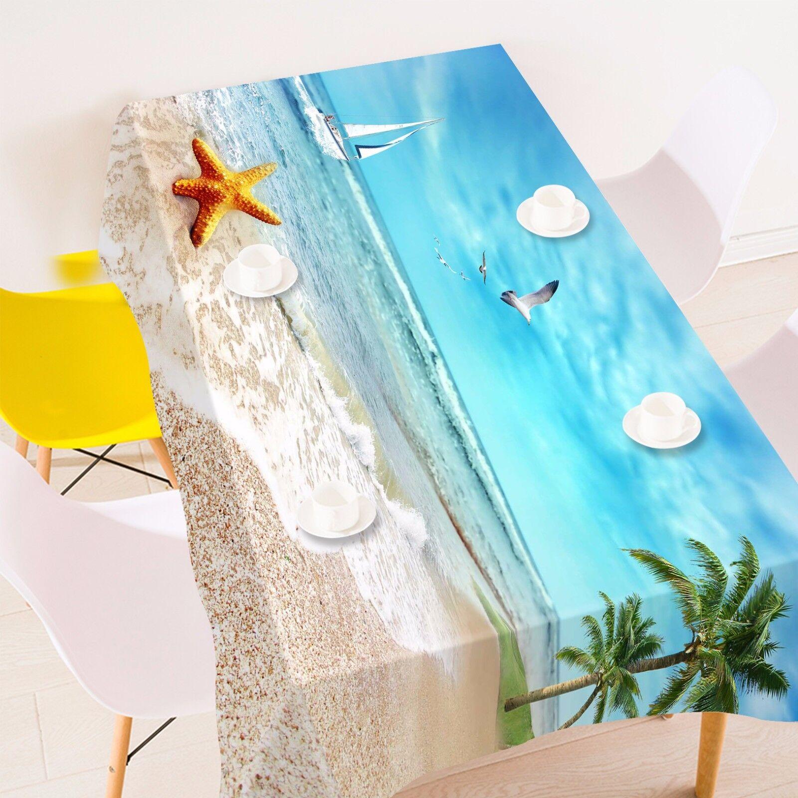 3D Starfish Tablecloth Table Cover Cloth Birthday Party AJ WALLPAPER UK Lemon