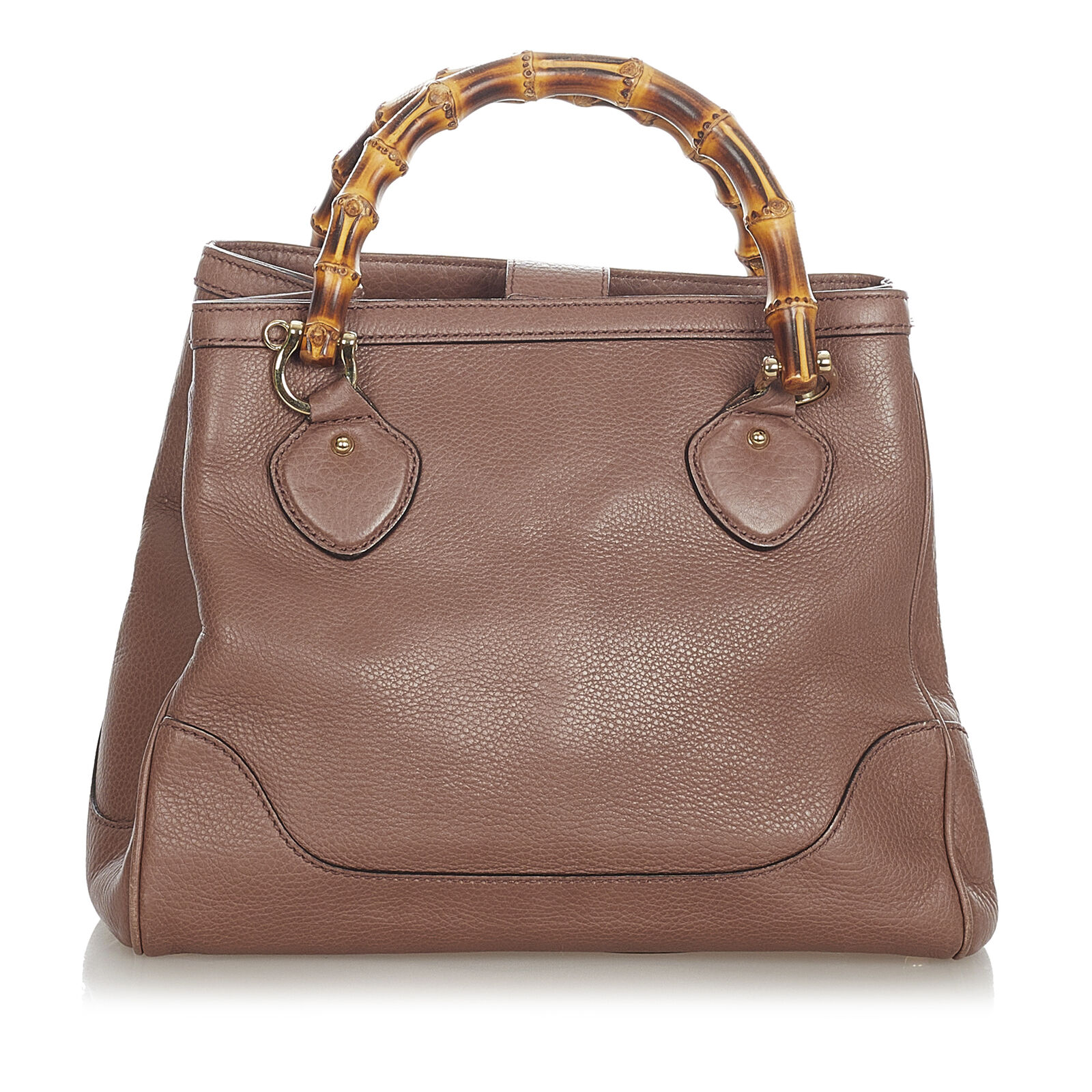 Pre-Loved Gucci Brown Calf Leather Bamboo Diana H… - image 1