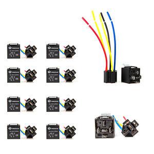 10pcs 12v 30 40 amp spdt relay wire harness socket for. Black Bedroom Furniture Sets. Home Design Ideas