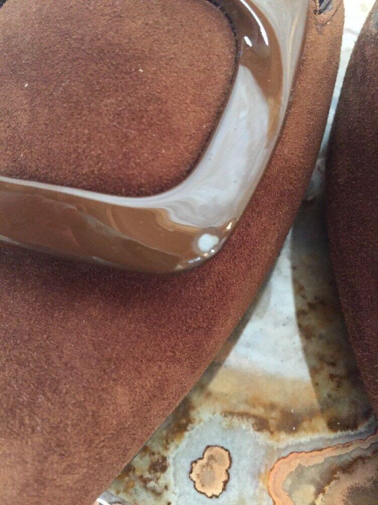 Stuart Weitzman DORSINI DORSINI DORSINI Daim d'Orsay Ballet Flat-Taille  5.5 - Couleur  Londra 4119f9