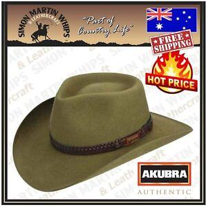 8f3436b0b51 Image is loading Akubra-Snowy-River-Hat-Santone-Fawn-Australian-Made