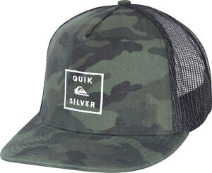 innovative design 5f348 ddf70 Image is loading Quiksilver-Mens-Clipster-5-panel-Snapback-Trucker-Hat-