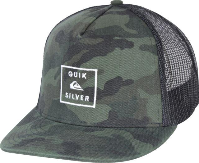 info for de58e 57bf9 Quiksilver Mens Clipster 5 panel Snapback Trucker Hat - Camo