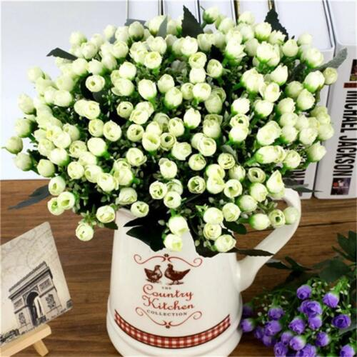Bouquet Of Flowers Artificial Small Bud Roses Home Party Decor Material 36 Heads