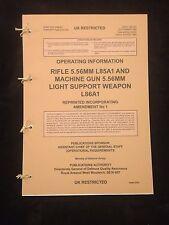 SA80 L85 & L86 LSW  USER HANDBOOK PAMPHLET MANUAL NORTHERN IRELAND GULF WAR