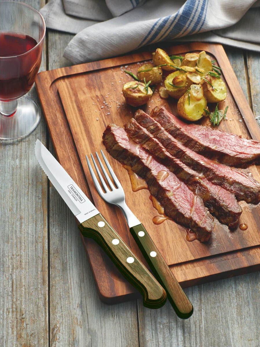 TRAMONTINA Churrasco 5  Steak Steak Steak Pizza Knives Set 3-6-12 Pc.Grill BBQ GAUCHO 35cdba