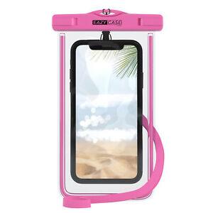 Wasserdichte-Unterwasser-Tasche-Handytasche-Schutz-Huelle-Case-Cover-Beutel-Rosa