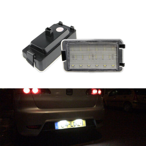 WHITE LED NUMBER LICENSE PLATE LIGHT LAMP FOR SEAT LEON TOLEDO IBIZA ALTRA AROSA