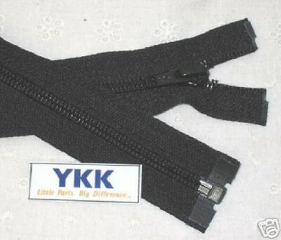 "35/"" #5 Nylon Coil Zippers~Separating ~ Black ~ YKK 12"