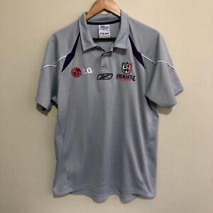 Fremantle-Dockers-Polo-Shirt-Reebok-2006-AFL-Football-Silver-Adult-Mens-Large