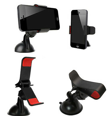 Universal 360°Rotating Car Windshield Mount Holder Stand For Cell Phone /GPS New
