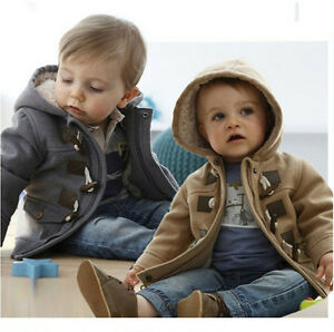 Toddler Baby Girls Winter Add Wool leopard Grain Hooded Coat Outerwear Jacket