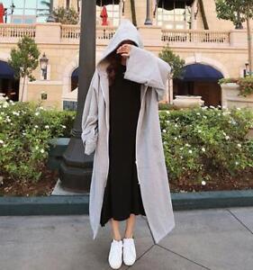 Trench Parka F317 Maxi Overtøj Foder Warm Hooded Overcoat Kvinders Fleece Long nFwRqxCXv