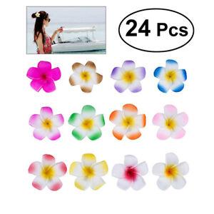 24-St-2-4-034-Plumeria-Blume-Haarspange-Schaum-Haar-Accessoire-Beach-Party-Schmuck