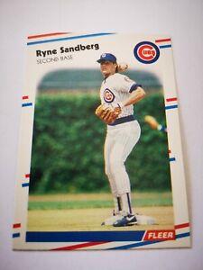 Fleer 1988 carte card Baseball MLB US NM+/M Chicago Cubs #431 Ryne Sandberg