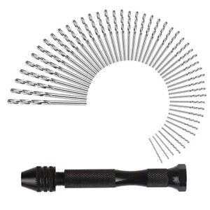 1x-A-MANO-Trapano-Set-precisione-morsa-pin-con-49-PEZZI-MINI-SPIR-u6l2
