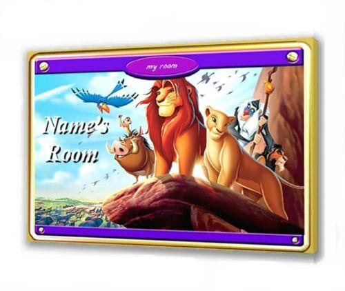 DISNEY LION KING III WOODEN DOOR PLAQUE 10 X 15cm