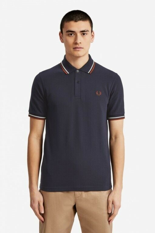 Frot Perry Polo Men Twin Tipped Mens Navy S