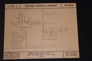 Phenomenal Bond Minicar Model E 57 8 Uni Direction Dynastart Original Lucas Wiring Database Gramgelartorg