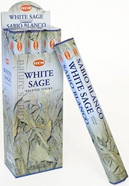 Hem White Sage iIndian ncense stick Joss x 5 Boxes (100 sticks)