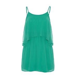 Stunning-ASOS-Anastasia-Green-Layered-KeyHole-Back-Dress-Free-UK-P-amp-P-New