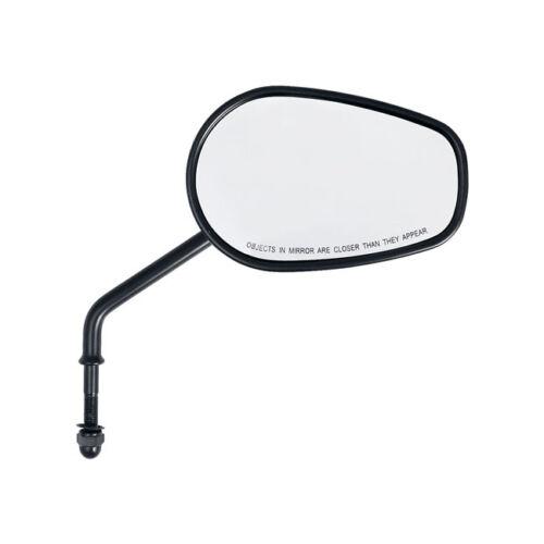 Miroir Riptide Fuselé brièvement pour Harley Davidson Dyna Modèles Noir 1 Paire