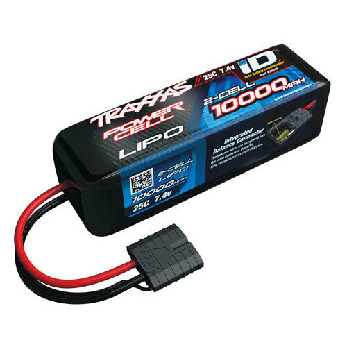 Traxxas 2854x 10000mah  7.4v id lipo batterie stampede 2wd 4x4 rustler spartaner