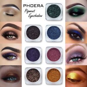 PHOERA-Glitter-Polvere-scintillante-Colori-Ombretto-Metallic-Eye-Cosmetic